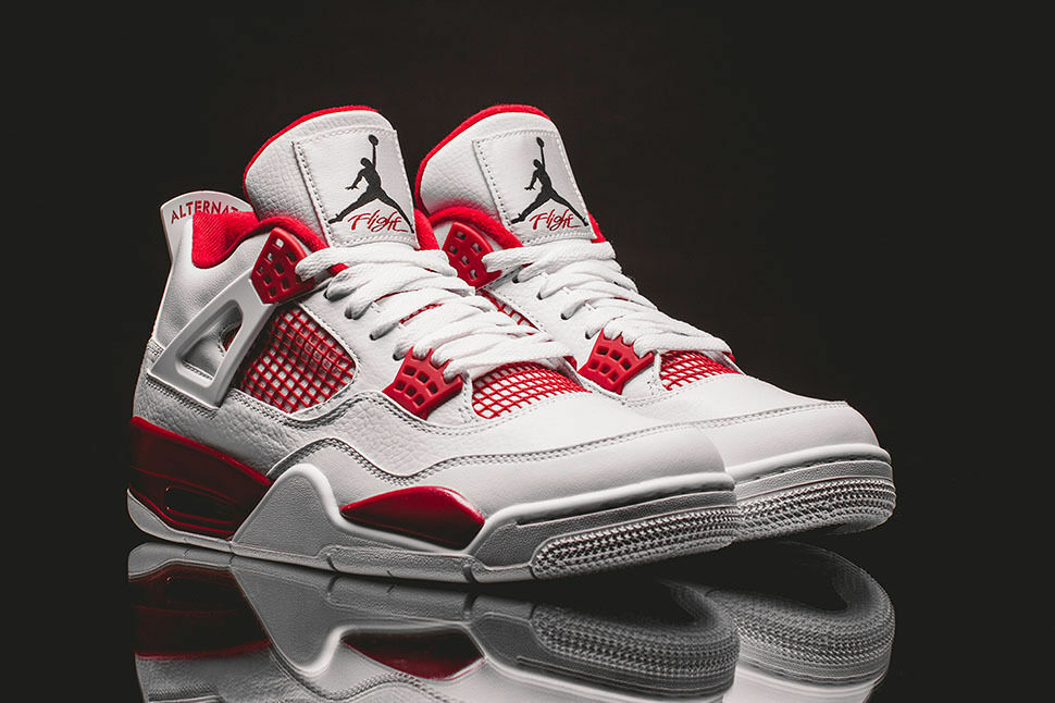 ca13f99a7d39 Details about Nike Air Jordan 4 Retro Alternate Black Gym Red White 308497- 106 Mens Size 11