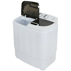 Kyпить Compact Portable Washer & Dryer with Mini Washing Machine and Spin Dryer, White на еВаy.соm