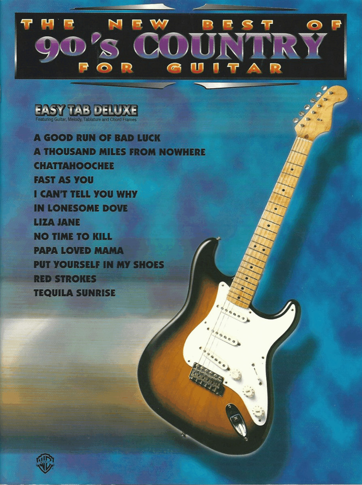 NEW BEST OF 90\'s COUNTRY GUITAR TAB & Notes Sheet Music Book ...