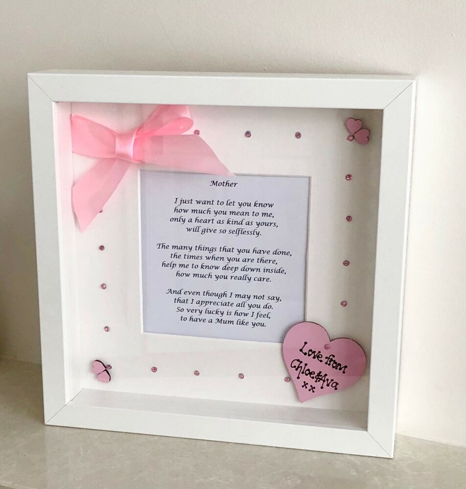 Personalised 3D Box Picture Frame Mum Mummy Birthday/Easter/Xmas Gift  Present | eBay