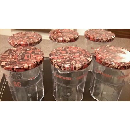 img-6 X Southern Comfort Screw Cap Polycarbonate jars 35cl