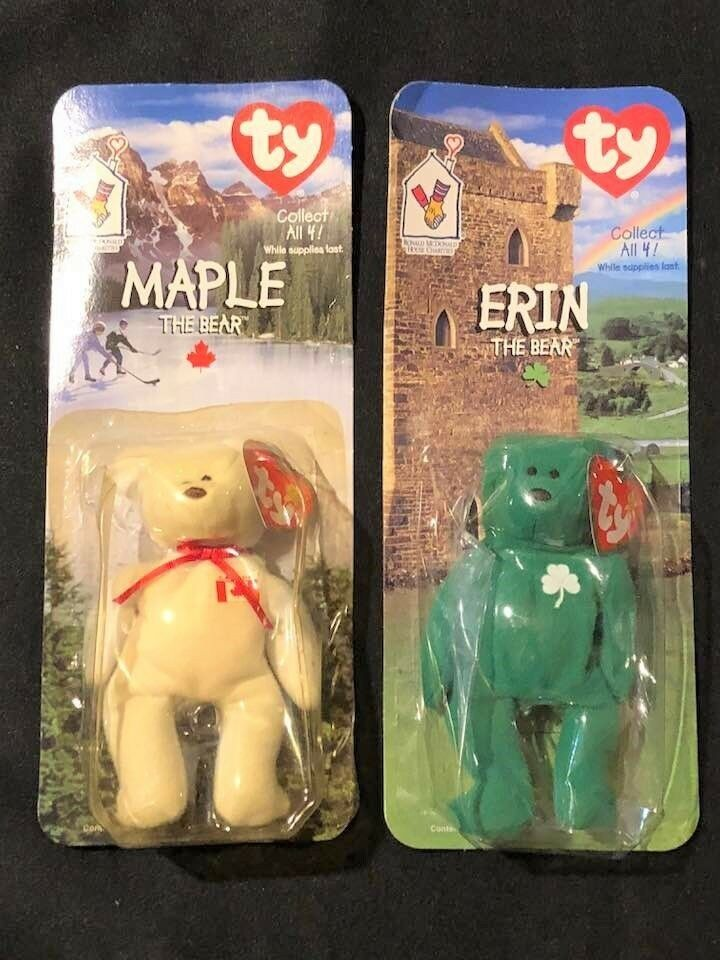 0ce9eaa678d Details about Vintage Ty Teenie Beanie Baby Erin Maple The Bear McDonalds  TAG ERRORS