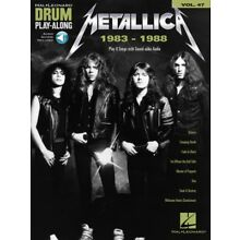 Metallica: 1983-1988 Drum Play-Along Book and Audio NEW 000234340