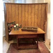 Gorgeous! Antique English Curved Back Settle
