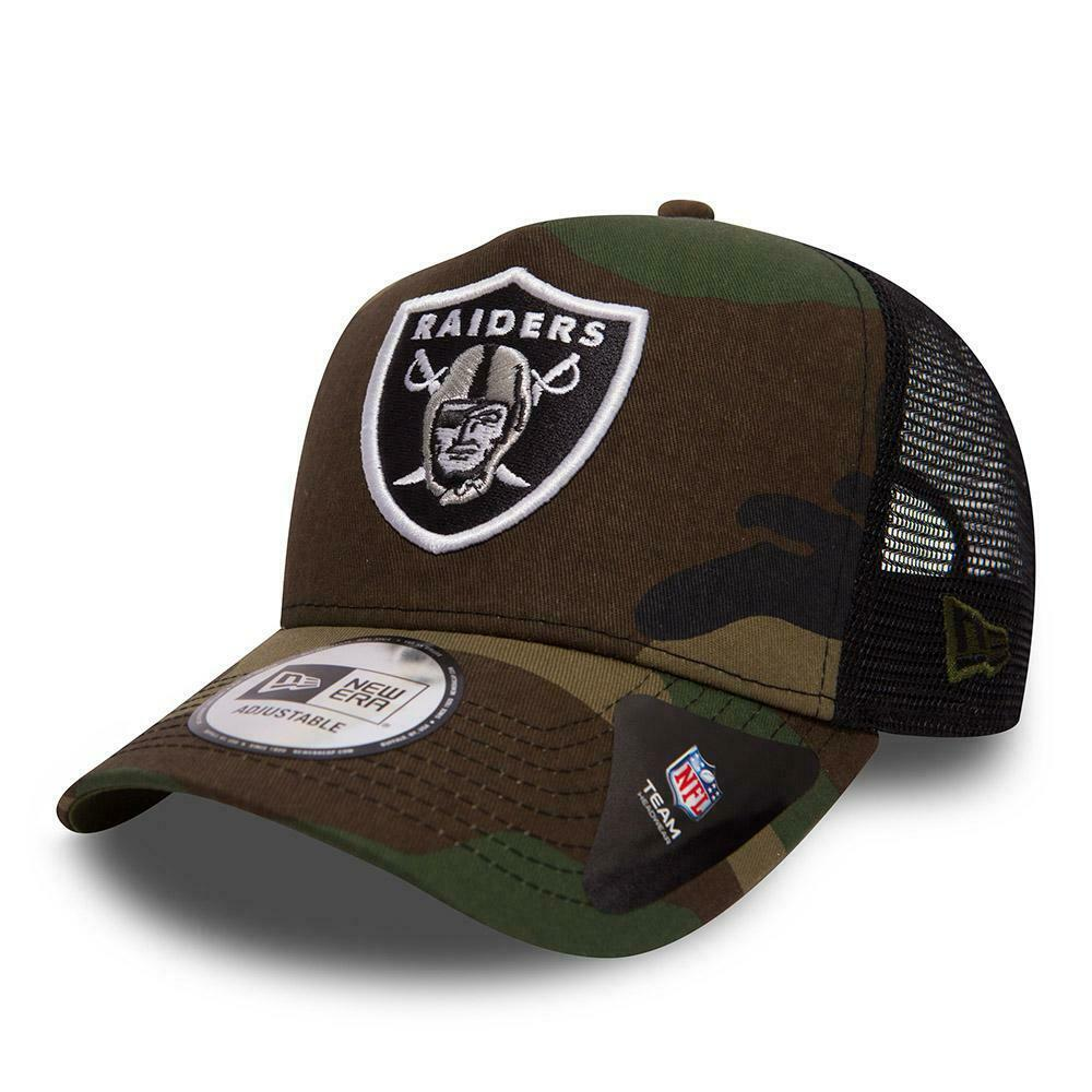 Details about NEW ERA A FRAME TRUCKER. OAKLAND RAIDERS CAMO ADJUSTABLE  SNAPBACK 29a2132c483