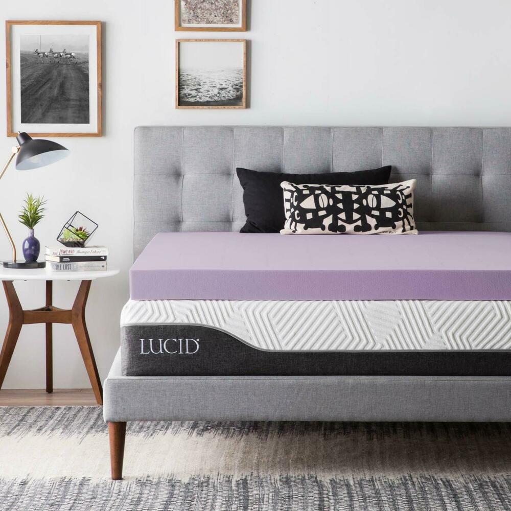 3 Inch Lavender Infused Memory Foam Mattress Topper Twin