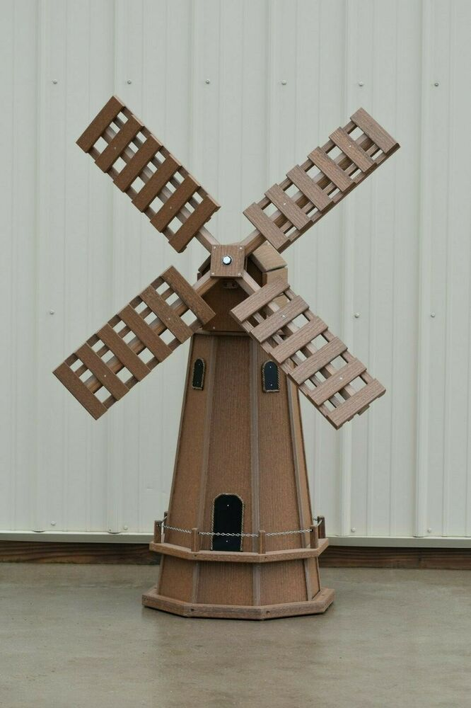5 Ft Octagon Quot Wood Looking Quot Poly Dutch Windmill Antique