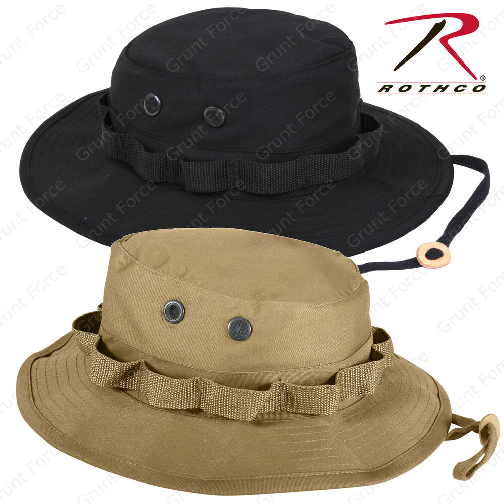 9bc3ccf46b47d Details about Rothco Coyote Brown or Black Boonie Hat