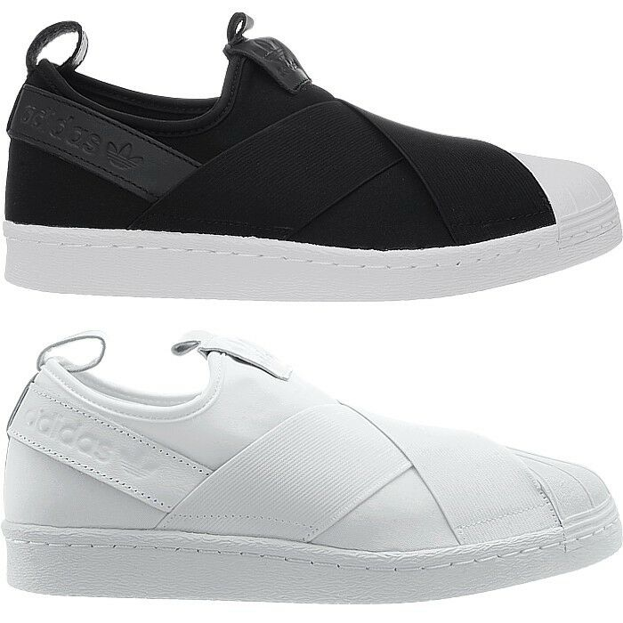 70ad134fbab Details about Adidas Superstar SlipOn men s low-top sneakers black or white  casual shoes NEW