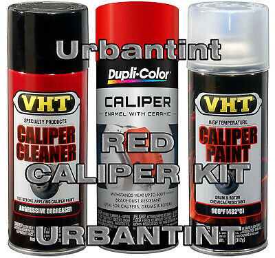 VHT 3 CAN Real RED CALIPER SPRAY KIT Paint BRAKE Drum High Temp 900°F SP731