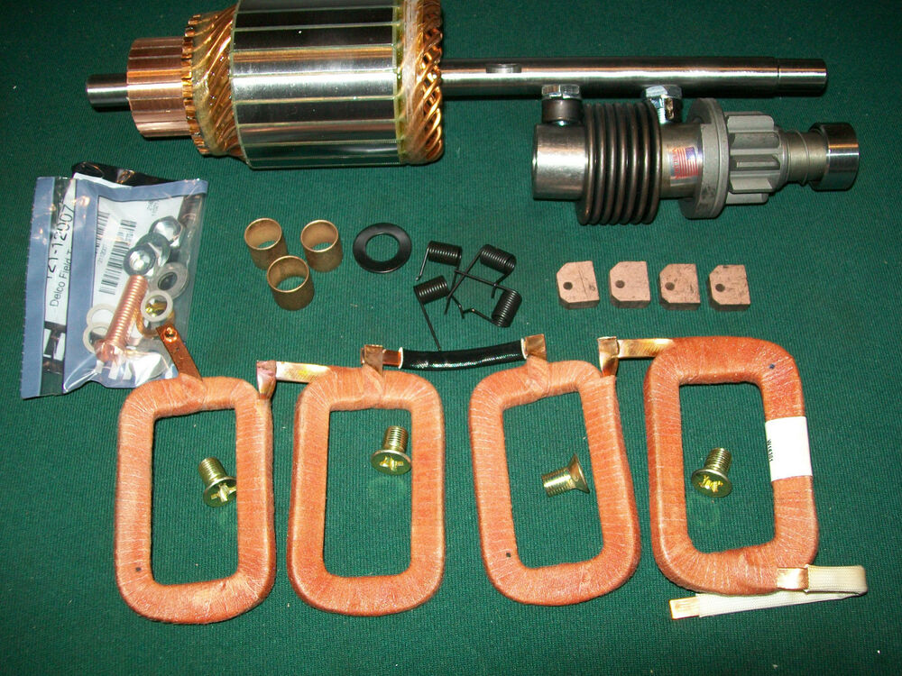 delco starter 12 volt field coil armature drive kit farmall h mta w4 w6 1107427 ebay. Black Bedroom Furniture Sets. Home Design Ideas