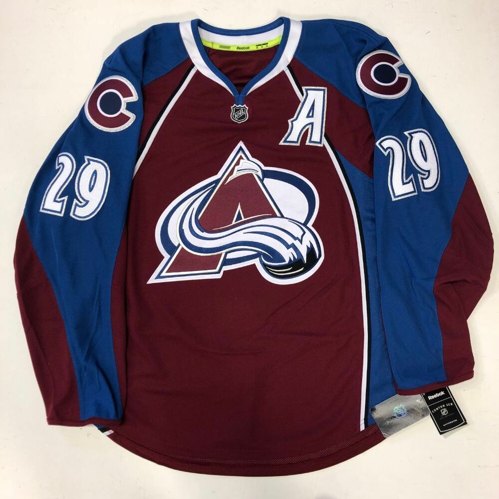 Details about NATHAN MACKINNON COLORADO AVALANCHE EDGE AUTHENTIC RBK HOME  JERSEY SIZE 52 52902b7a3