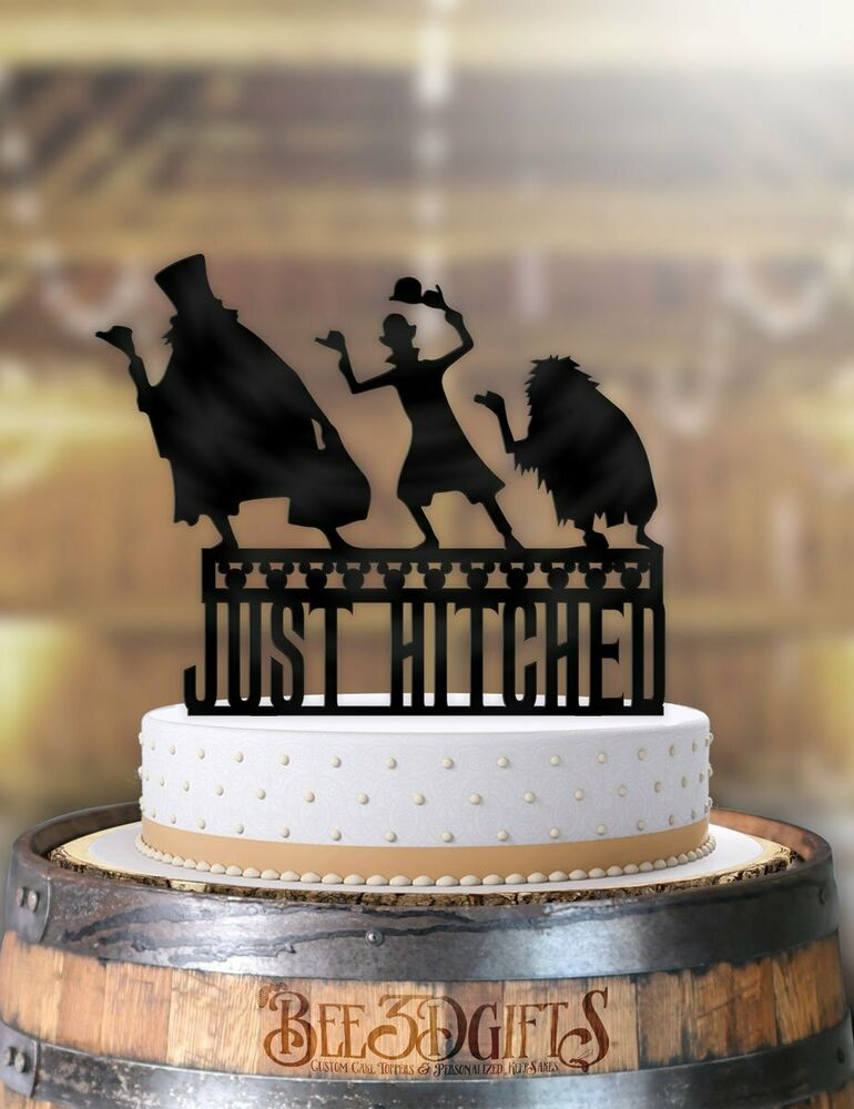 Disney Hitchhiking Ghosts Just Hitched Wedding Cake Topper Ebay