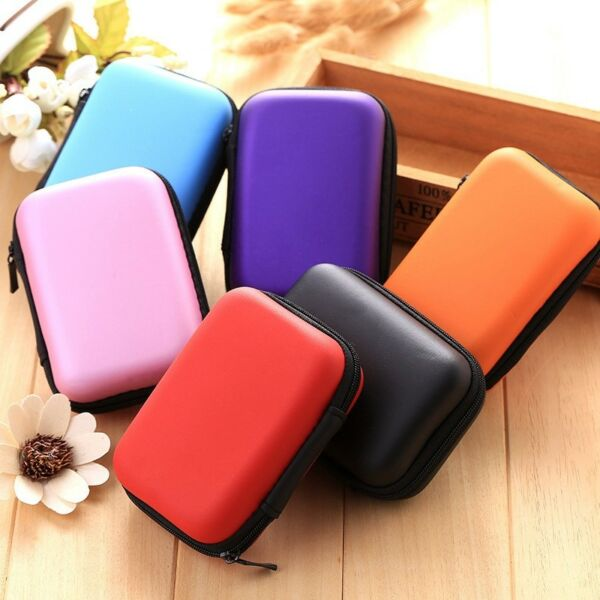 Mini Earphone Case Coin Purse Keys Cable Storage Box Holder Container Rectangle