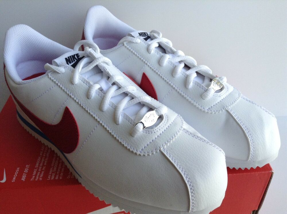 Details about NIKE CORTEZ BASIC SL (GS) FORREST GUMP WHITE RED BLUE (904764  103) SZ.7Y WMNS8.5 0bf6ac2f137