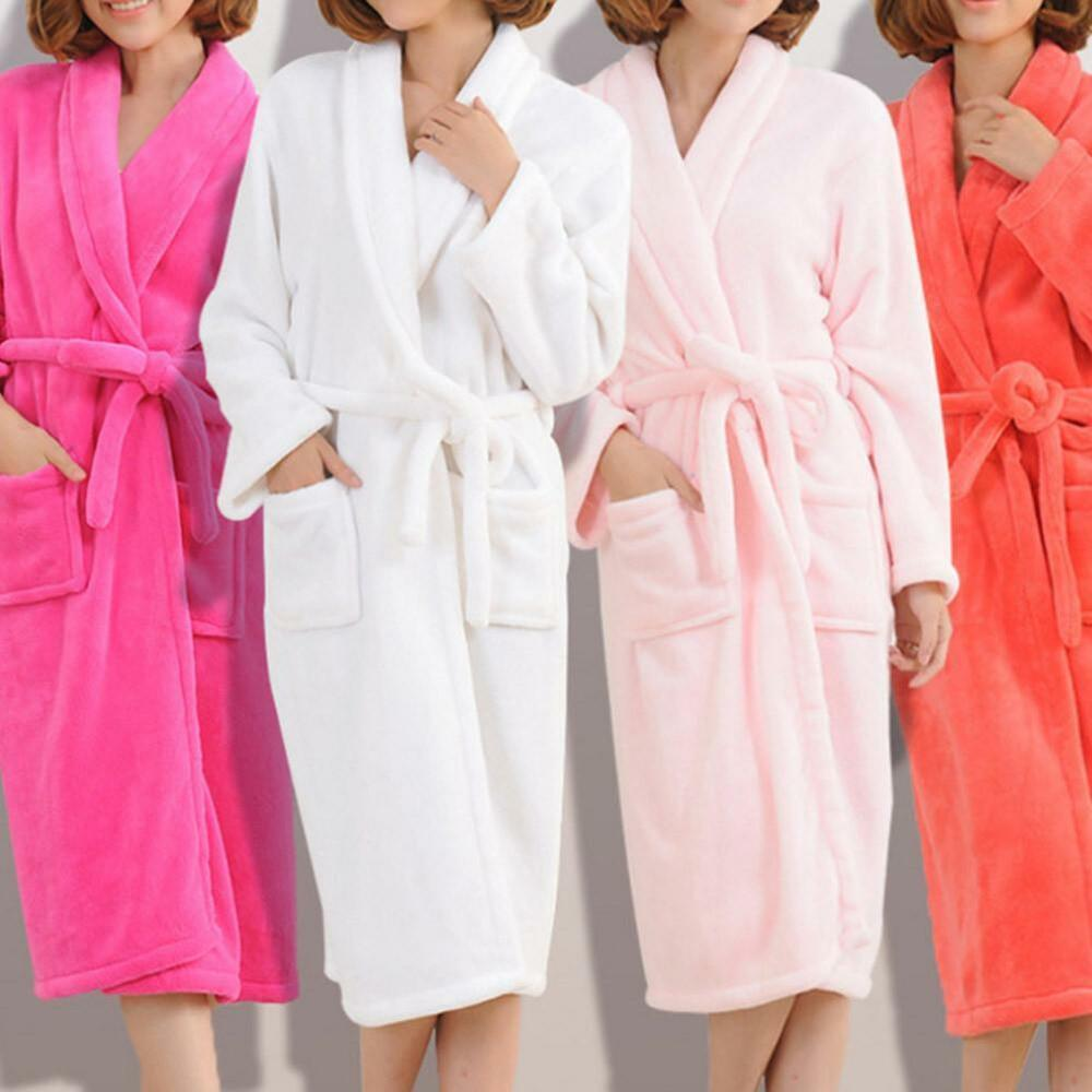 225ff68d93 Details about Men s and Women s Terry Cloth Towel Spa Bath Robe Shawl Dressing  Gowns