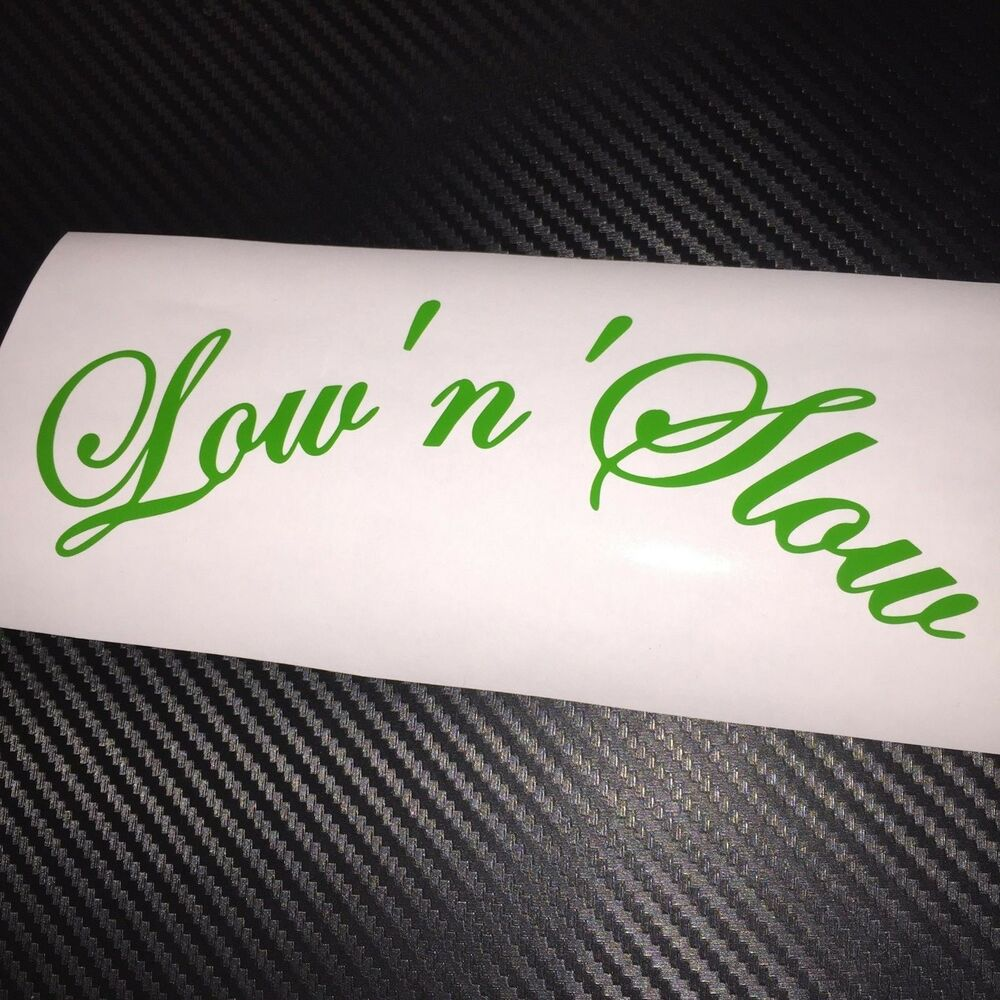 Details about green lownslow car sticker decal jdm vdub stance lowered air static drift