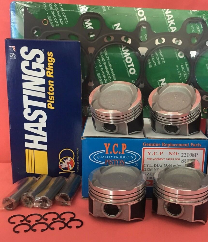 75mm YCP Vitara Pistons Low Compression + Rings + Gasket