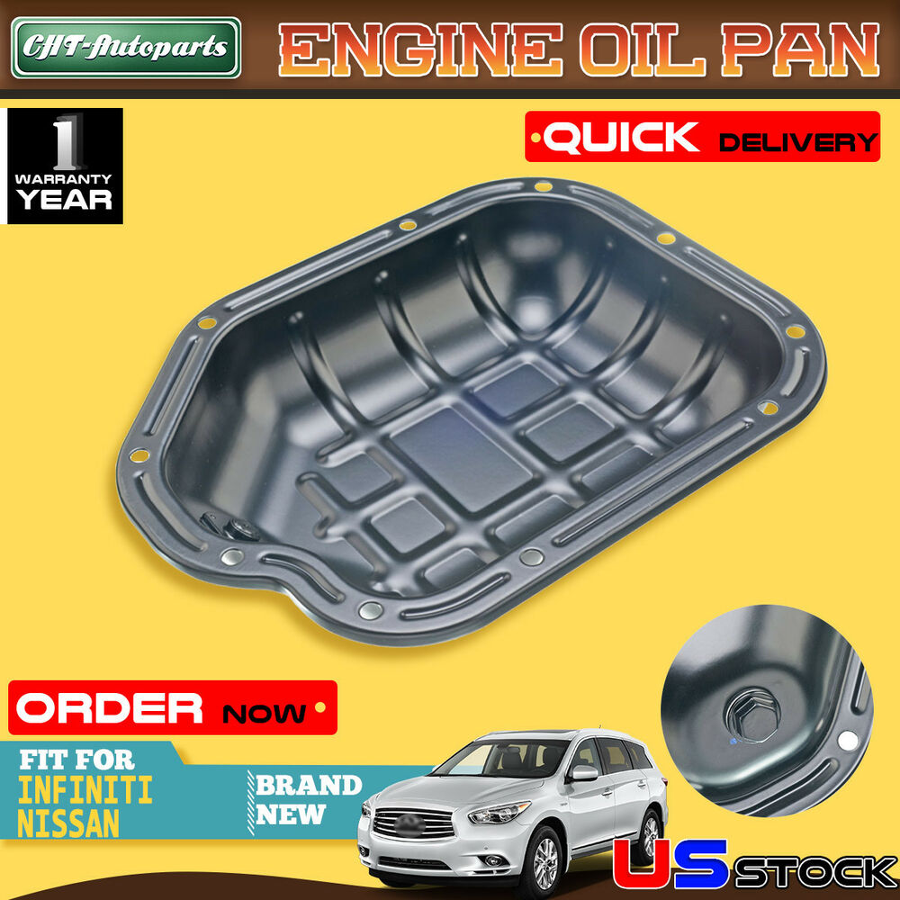 Details About Lower Engine Oil Pan For Nissan Altima Maxima Murano Quest V6 3 0l 5l 264 505