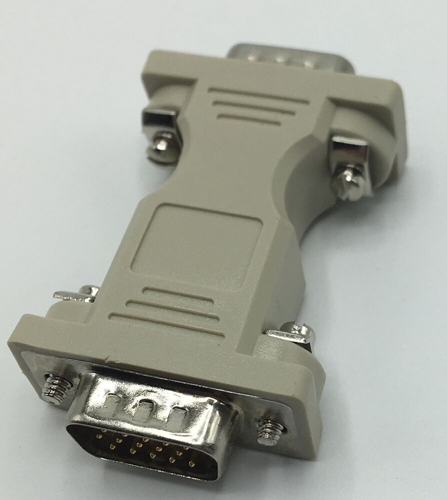 3 Pack Of 9 Pin Rs 232 Db9 Male To Db15 Serial Gender Changer Usb Rs232 Bafo Original New Ebay