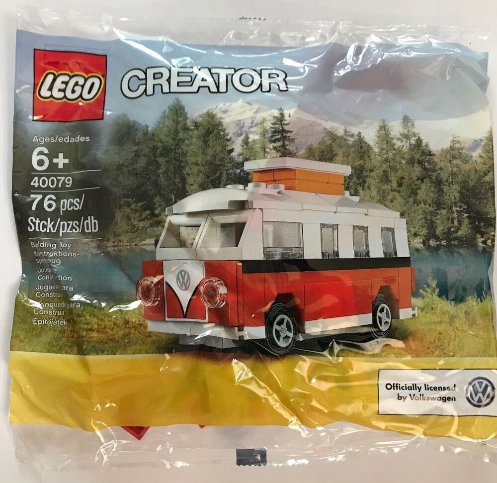 brand new lego creator mini vw t1 camper van 40079 ebay. Black Bedroom Furniture Sets. Home Design Ideas