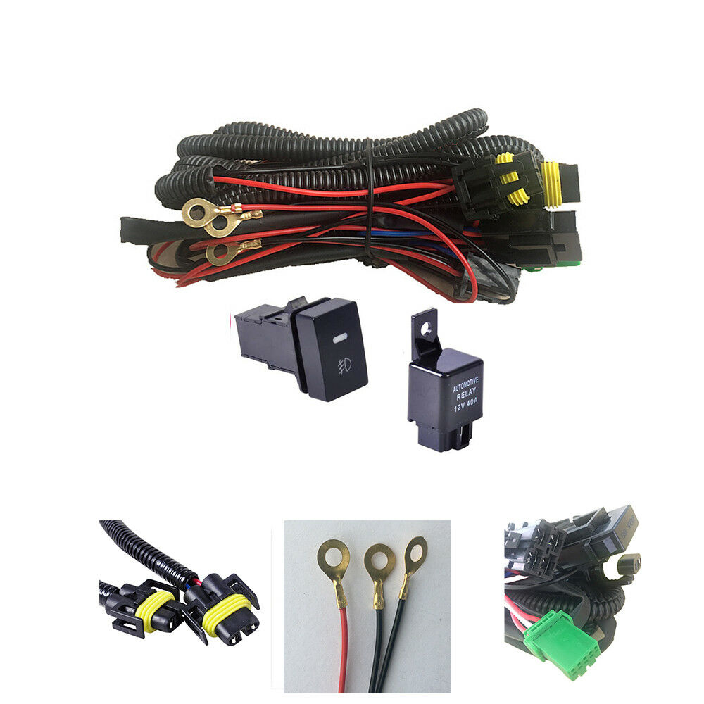 H11 Fog Light Wiring Harness Sockets Wire Led Indicators Switch Infiniti M37 12v 40a Relay