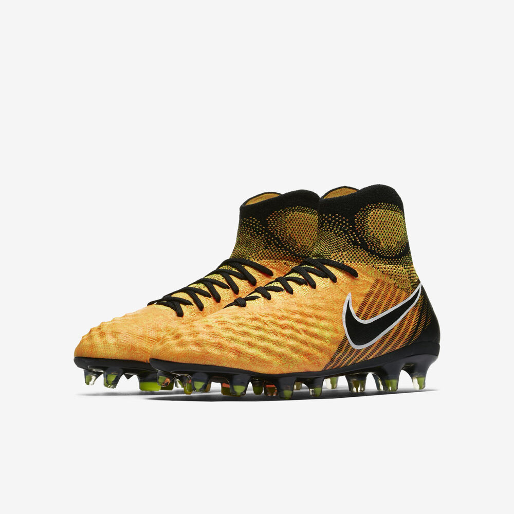 online store 86f80 eda34 Details about NIKE JR MAGISTA OBRA II FG YOUTH SOCCER CLEATS KIDS SIZE US  5Y ORANGE 844410-801
