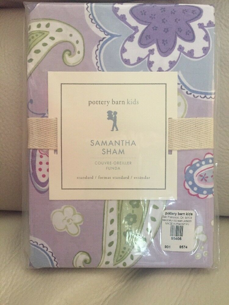 NWT Pottery Barn Kids Windsor Butterfly lavender euro sham for quilt *2 availabl