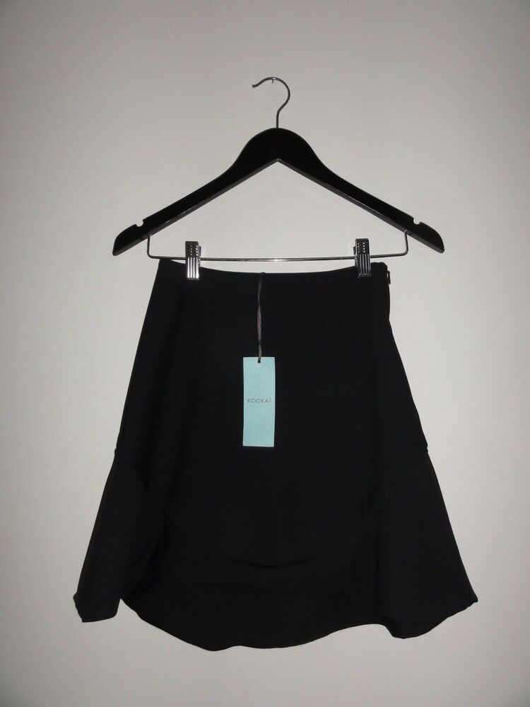 e638642e4af Details about Kookai Silence Skirt (with Frill) - Size 34 - Black