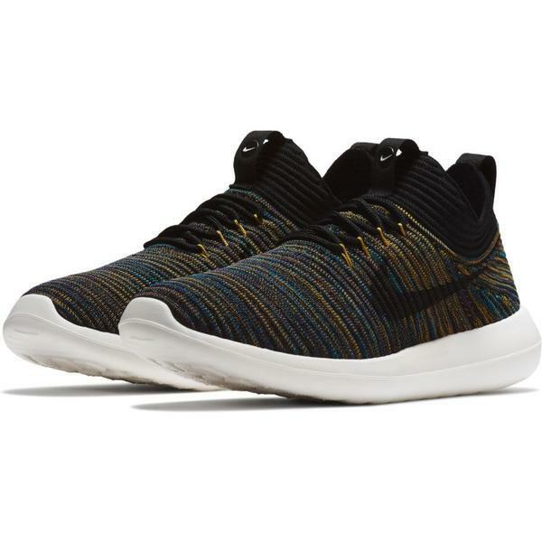 the latest fffad 5504d Details about NIKE ROSHE TWO FLYKNIT V2 WOMENS BLACKIVORY RUNNING SHOES,  917688-003