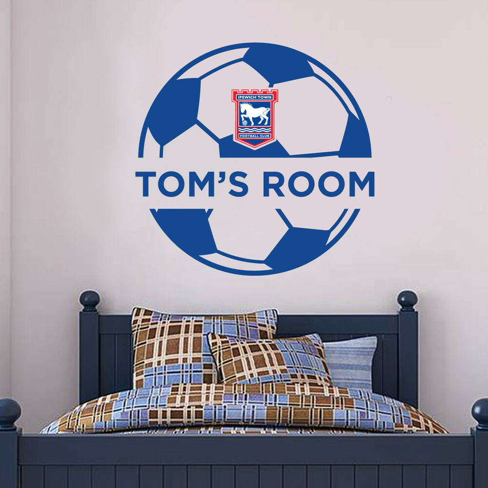 Details about ipswich town ball design personalised wall sticker ipswich town fc mural set