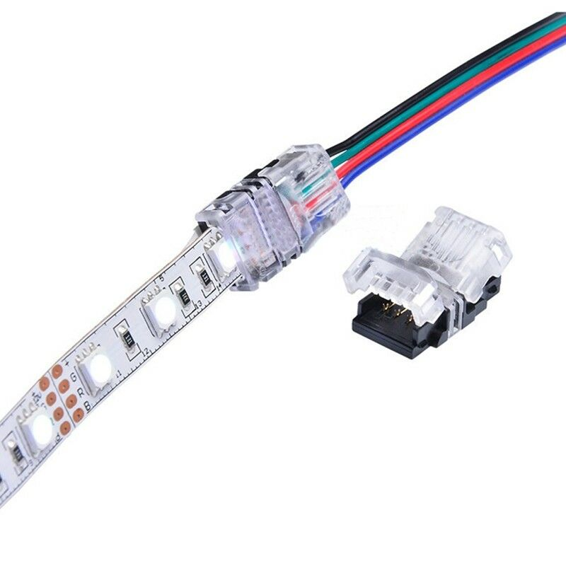 5050 rgb led strip light connector 10mm 4p quick connection adapter rh ebay com