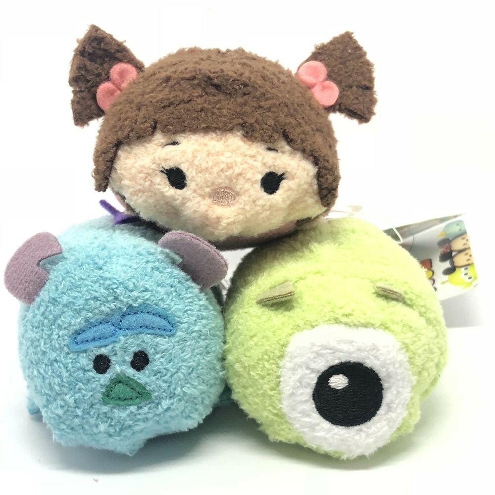 Disney Tsum Tsum Boo In Pajamas Mike Sulley Plush Monsters Inc
