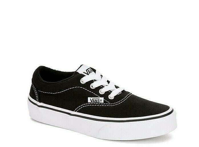 a1ec4c5d7421 Details about VANS Doheny Black+White Kids Athletic Sneakers Casual Shoes  Boys Youth NEW