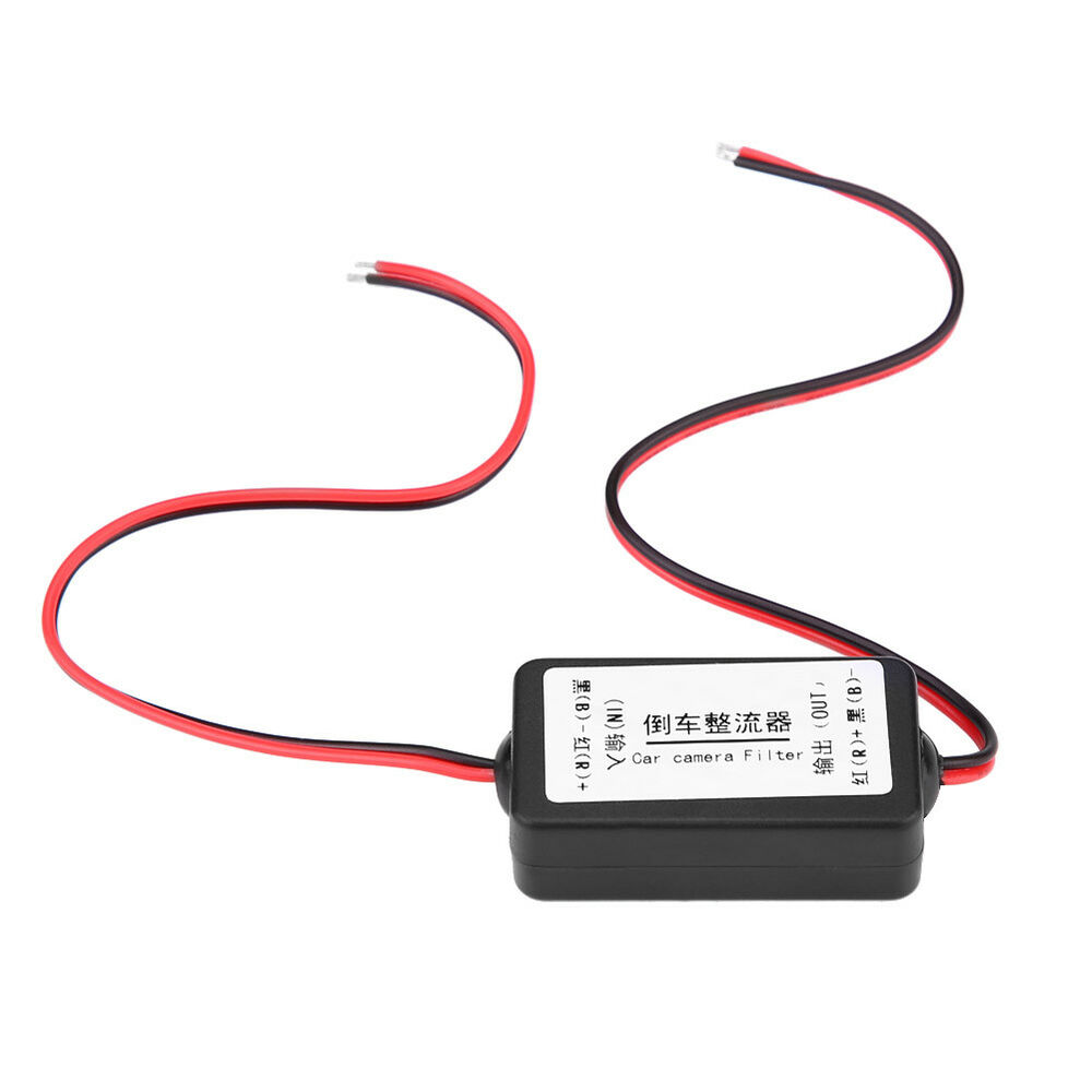 12v Relay Capacitor Filter Rectifiers For Car Rear View Back Up Wiring Reversing Camera Ebay