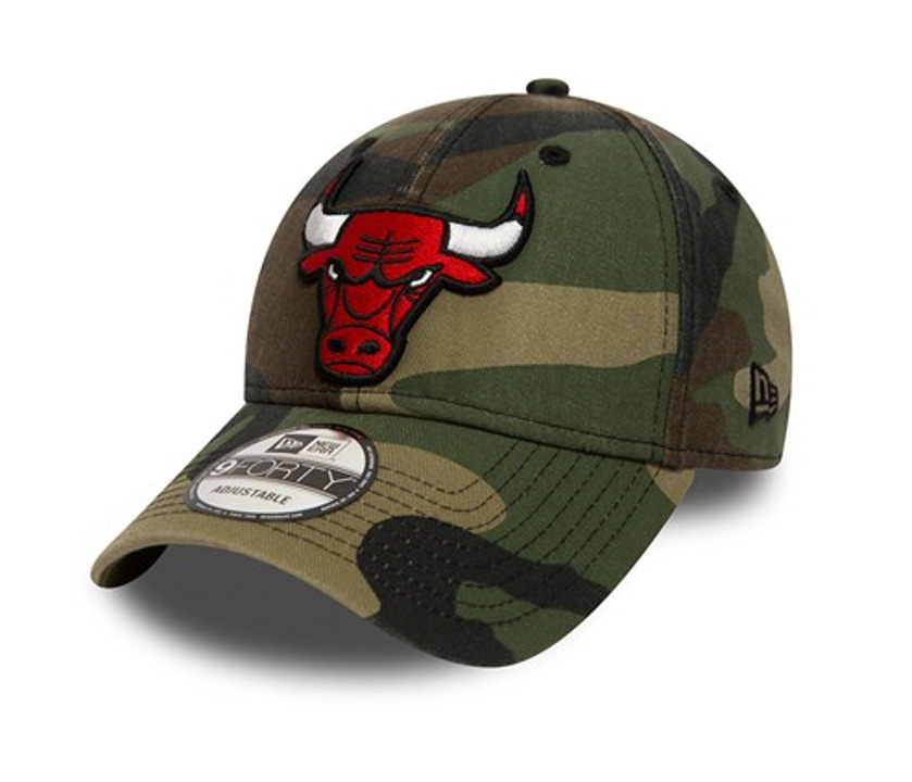 e33d99f409c7 Details about NEW ERA 9FORTY ADJUSTABLE STRAPBACK CAP. WASHED CAMO CHICAGO  BULLS