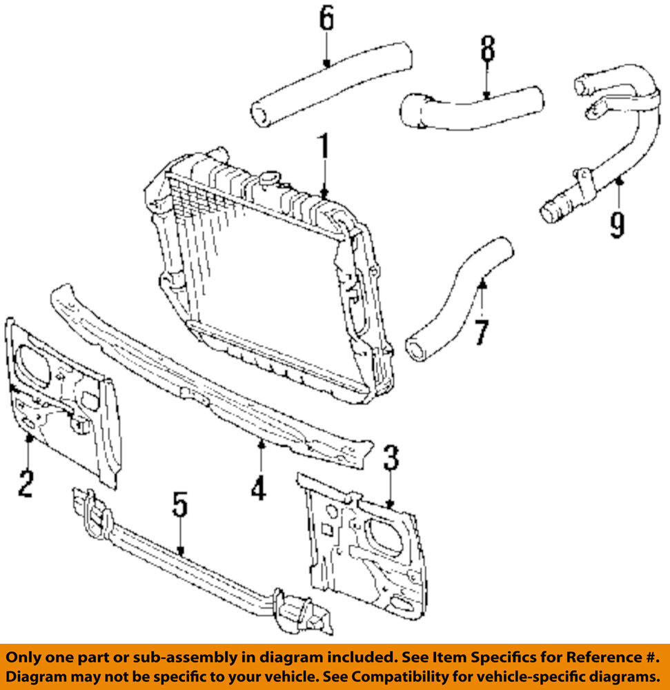 details about toyota oem 89-95 pickup 2 4l-l4 radiator-crossmember  5710489109