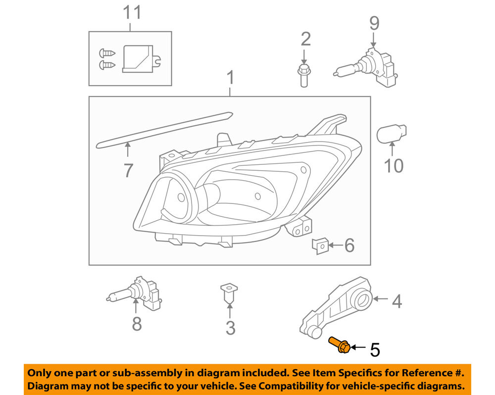 details about toyota oem headlight head light lamp-headlamp assembly bolt  9010506298