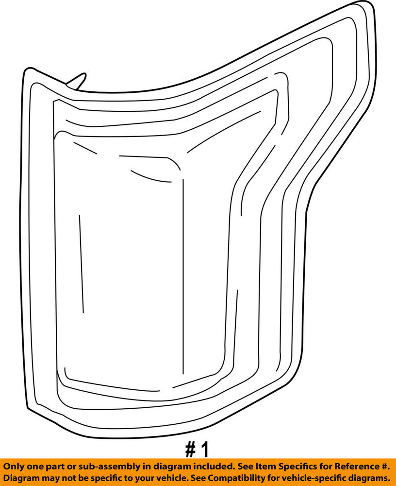 Ford Oem 15 16 F 150 Taillight Tail Light Lamp Assy Right Fl3z13404a Wiring Diagram Gmc Truck Coloring Pages 1960 Ebay