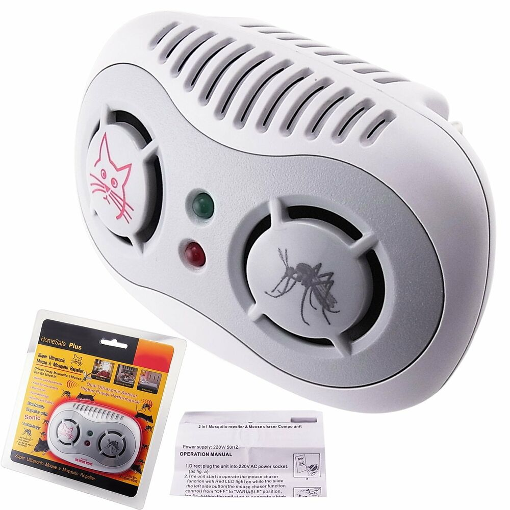 2 In 1 Electronic Ultrasonic Repeller Anti Mouse Mosquito 50 60hz Repellents By Repellent Circuit Rat Control Ebay