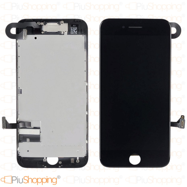 DISPLAY LCD TOUCH SCREEN IPHONE 7 COMPLETO FOTOCAMERA ALTOPARLANTE FRAME NERO