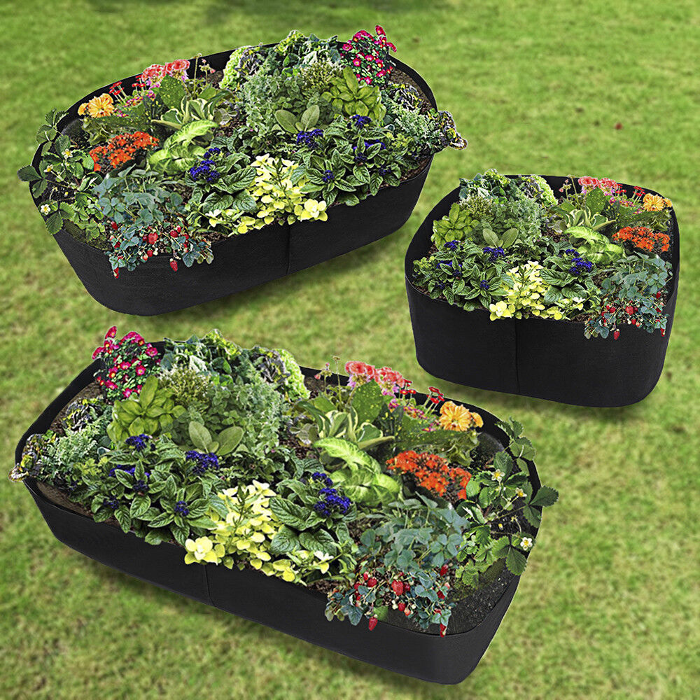 Raised Garden Bed Plants: Fabric Raised Garden Bed, Durable Grow Bags Herb Flower