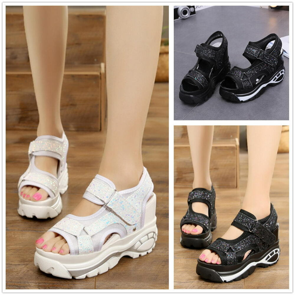 7660dc6f598 Details about Women Summer Fashion Platform Sandals Wedges Thick Bottom  Casual Shoes