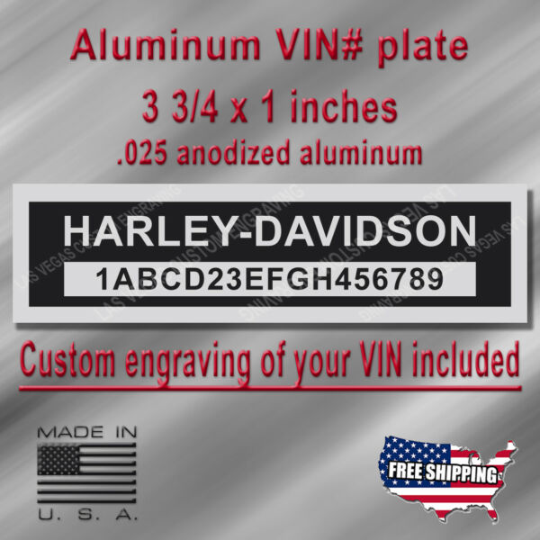 Serial VIN Plate - HARLEY DAVIDSON Compatible - Engraving of your # included