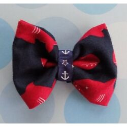 Dog Bow Tie - Shark/Fish Design - for S to M Dogs - Over the Collar - Handmade