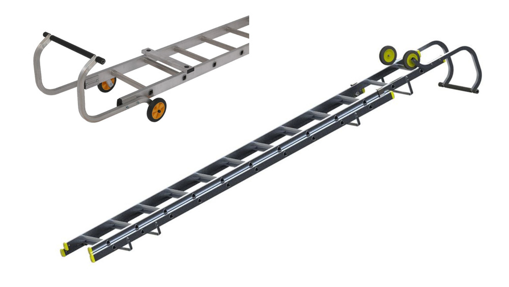 Roof Ladder Aluminium Single Double Section Ladder Roof
