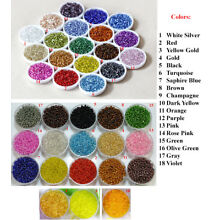 Silver Lined Glass Seed Bead Colorful Rocaille Round Tiny Pony 2/3/4mm 11 8 6/0