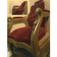 1800's Antique Dentist Chair, hand carved swans, beautiful