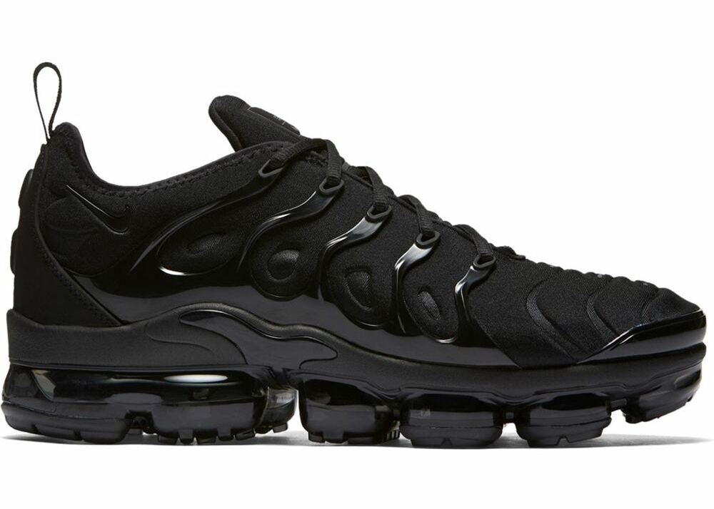 d559bca9f93 Details about NIKE AIR VAPORMAX PLUS 924453-004 TRIPLE BLACK BLACK DARK  GREY MEN size 8-13