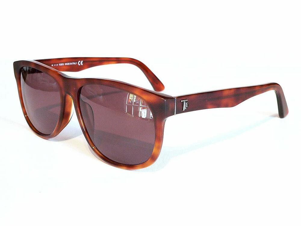 9c57920e0a Details about TOD S Unisex Sunglasses TO9125 Brown Havana Tortoiseshell  with Leather pouch